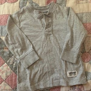 Koala Kids Grey Longsleeve. Boy 6-9 Mo
